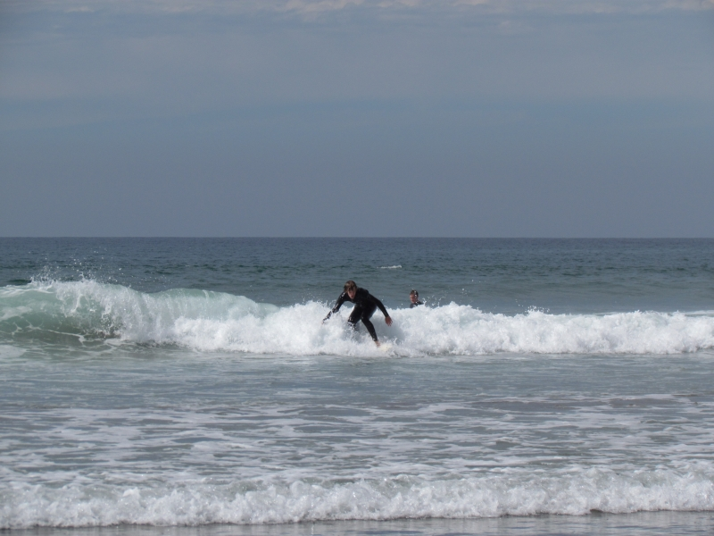 Surfing at Widemouth Bay