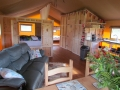 Lounge area in one of the safari tents