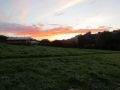 Sunset over Western Meadows Glamping