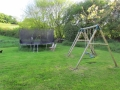 Swings and Trampoline play area